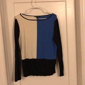 Ralph Lauren blue colorblock sweater XL